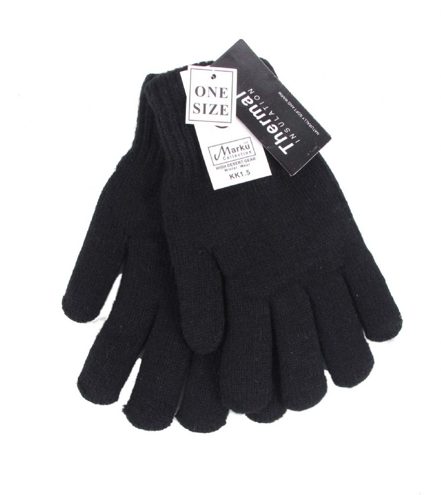 Black knitted Thermal Insulated Gloves